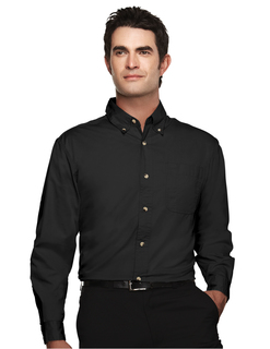 Ambassador-Mens 60/40 Easy Care Long Sleeve Twill Shirt-Tri-Mountain