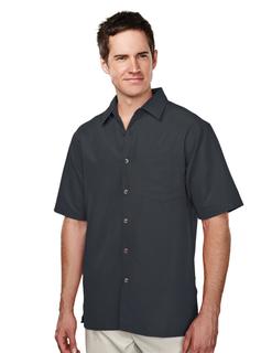 Bechard-Mens 53% Modal 47% Polyester Ss Woven Shirt-Tri-Mountain