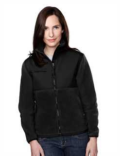 Arctic-Womens Panda Fleece Jacket With Nylon Paneling-Tri-Mountain