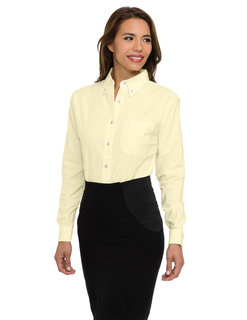 Echo-Womens 60/40 Stain Resistant Long Sleeve Oxford Shirt-Tri-Mountain