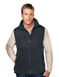 Surveyor-Mens Panda Fleece Vest With Nylon Paneling