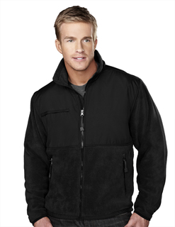 Frontiersman-Mens Panda Fleece Jacket With Nylon Paneling-