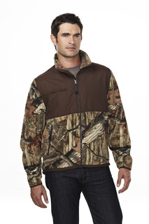 Frontiersman Camo-Mens 100% Spun Polyester Anti Pilling Fleece Jacket44-Tri-Mountain