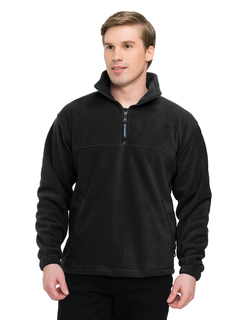 Viking-Panda Fleece 1/4 Zip Pullover With Trim