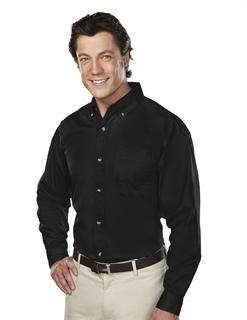Professional-Mens 60/40 Stain Resistant Long Sleeve Twill Shirt-Tri-Mountain