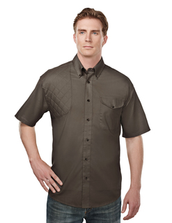 Freebore-Mens Cotton/Poly 60/40 Ss Woven Shooting Shirt,