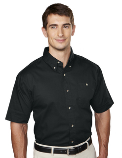 Director-Mens Cotton Short Sleeve Twill Shirt-Tri-Mountain