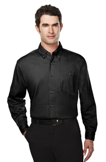 Executive-Mens Cotton Long Sleeve Twill Shirt-Tri-Mountain
