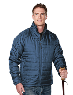 Brooklyn-Mens 100% Polyester Rib- Stop Long Sleeve Quilt Jacket With Water Resistent