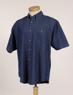 Scout-Mens Denim Short Sleeve Shirt-Tri-Mountain
