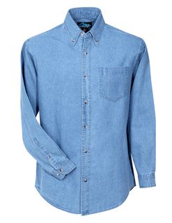 Trekker-Heavyweight Denim Long Sleeve Shirt-