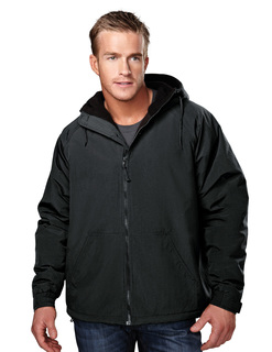 Conqueror-Mens Nylon Hooded Jacket With Fleece Lining-