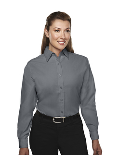 Metro-Womens Rayon/Poly Long Sleeve Shirt With Mini-Houndstooth Pattern