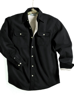 Tahoe-Denim Shirt Jacket With Fleece Lining