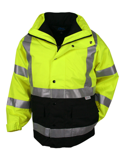 Industry-3-In-1 System Waterproof Safety Parka. Ansi Class 3