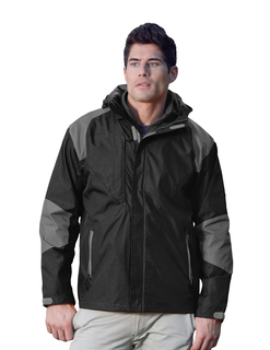 Slalom-Mens 100% Nylon Water Resistant Woven Jacket, Full Lined w/ Hood
