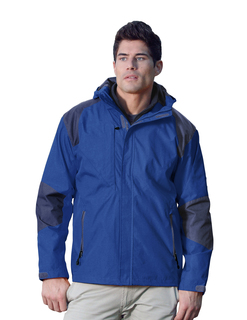 Slalom-Mens 100% Nylon Water Resistant Woven Jacket44 Full Lined w/ Hood