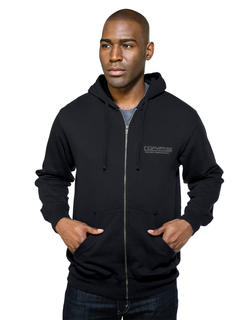 Chance-Mens 8.6 Oz 60% Cotton/40% Polyester Hooded Full Zip Sweatshirt-Tri-Mountain