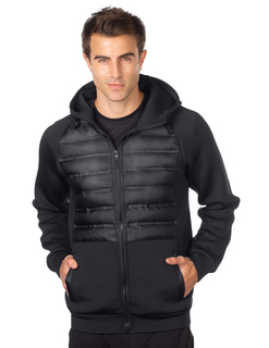 Headwind Hoody-Mens Quilted Layer Knit Hooded Jacket-