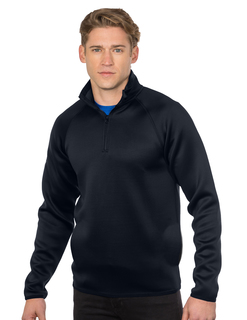 Ms Layer Knit 1/4 Zip-Mens Layer Knit 1/4 Zip Pullover-TM Performance