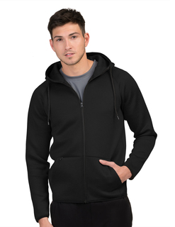 Mens Layer Knit Zip Hoody-Mens 90% Polyester 10% Spandex Full Zip Hoody Jacket-