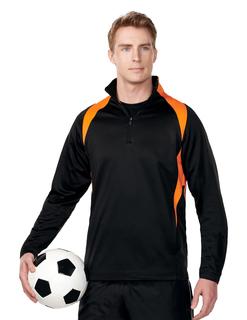 Odin-Mens 100% Polyester Micro Fleece 1/4 Zip Pull Over-TM Performance