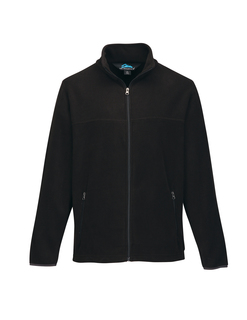 Alpine-Mens Polar Fleece Jacket With Slash Zippered Pockets