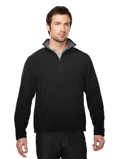 Sarbonne-Mens 100% Polyester Knit Bonded Contrast Micro Fleece
