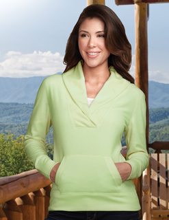 Helena-Womens 100% Polyester L/S Shawl Collar Pullover