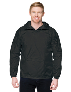 Squall-Mens 100% Nylon Packable Zipped Pullover Hooded Anorak Jacket-Tri-Mountain