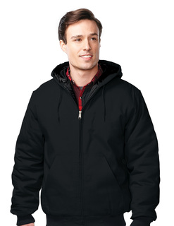 Foreman-Mens Cotton Canvas Hooded Jacket-Tri-Mountain