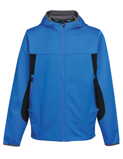 Belford-Mens 100% Polyester Hoody Jacket With Contrast Side Panel And Zipper Pocket-TM Performance