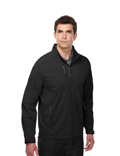 Bonnington-Mens 96% Polyester 4% Spandex Dobby Full Zip Jacket-