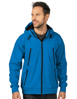 Advance-Mens Bonded Soft Shell Hooded Jacket-