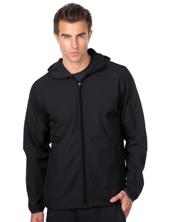 Oslo-Mens Bonded Soft Shell Hooded Jacket-TM Performance