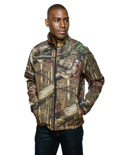 Quest Camo-Mens Full Zip Bonded Soft Shell Jacket