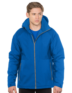 Bellwood-Mens Hooded Honeycomb Polyfleece Jacket-