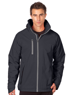Everett-Mens Heavyweight Polyesterfleece Hooded Parka-Tri-Mountain