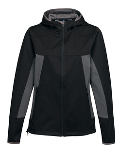 Bellaire-Womens Hoody Jacket w/ Contrast Side Panel And Zip Pockets