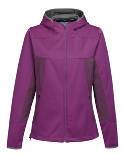 Bellaire-Womens Hoody Jacket w/ Contrast Side Panel And Zip Pockets-TM Performance