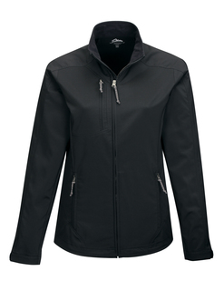 Bonney-Womens 96% Polyester 4% Spandex Dobby Full Zip Jacket