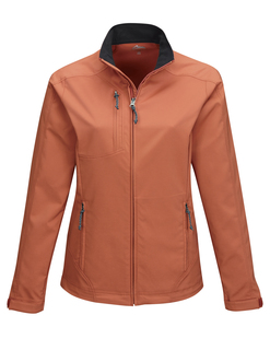 Bonney-Womens 96% Polyester 4% Spandex Dobby Full Zip Jacket-TM Performance