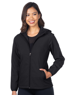 Odessa-Womens Bonded Soft Shell Hooded Jacket-