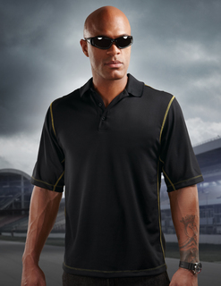 Intercooler-Mens 100% Polyester Micro Mesh 3 Button Polo-TMR