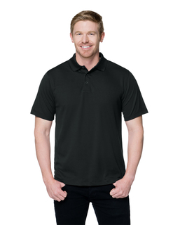 Vital-Mens 100% Polyester Knit S/S Golf Shirt-
