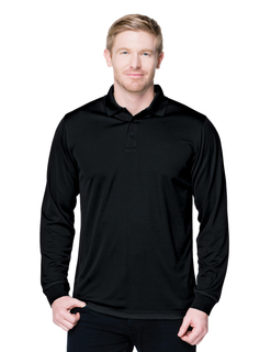Vital Long Sleeve-5 Oz 100% Polyester Mini-Pique Long Sleeve Polo Featuring Moisture-Wicking-
