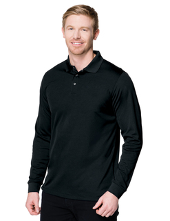 Vital Ls Snap-5 Oz 100% Polyester Mini-Pique Long Sleeve Polo Featuring Tri-Mountain Ultracool™ Moisture-Wicking-Tri-Mountain