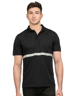 Civic-Pocketed Polo With Reflective Tape-Tri-Mountain
