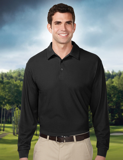 Endurance Long Sleeve-Mens 100% Polyester Uc Long Sleeve Golf Shirt-