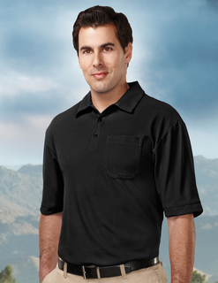 Endurance Pocket-Mens 100% Polyester Uc S/S Golf Shirt